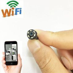 wireless network WIFI IP HD tiny pinhole mini DIY spy hidden camera DVR recorder in Consumer Electronics, Surveillance & Smart Home Electronics, Home Surveillance, Security Cameras Wireless Security Cameras, Wireless Home Security Systems, Security Cameras For Home, Security Alarm, Wireless Camera, Hidden Security Cameras, Smartphone, Best Home Security, Security Tips