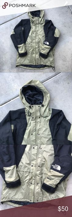 The north face women's snow rain jacket Women's / large / olive green brown / black color / gore Tex / for winter or rainy season / double zipper liner / ventilation zippers / no rips! / no piling / hoodie The North Face Jackets & Coats