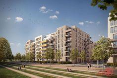 Neubau: Hamburg wächst mit Aufstockung. Bild: formart GmbH & Co. KG, Niederlassung Hamburg http://hamburg.neubaukompass.de/Hamburg/Altona/Bauvorhaben-AltOhna-meine-Mitte-Baufeld-5/ #Hamburg #Immobilien