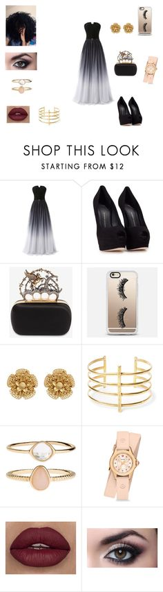 """""""Just a regular Dress up day"""" by jasmine-fry on Polyvore featuring Giuseppe Zanotti, Alexander McQueen, Casetify, Miriam Haskell, BauXo, Accessorize and Michele"""