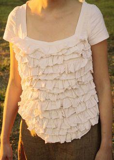 Ruffled T-Shirt Redo Tutorial by Melly Sews