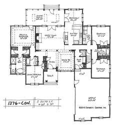 New house plan on the drawing board 1376 takes one of our for Award winning one story house plans