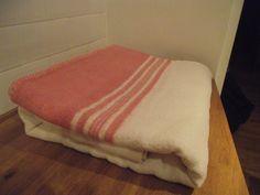 Delightful Vintage Retro Wool Pink Striped Blanket. £38.00, via Etsy.