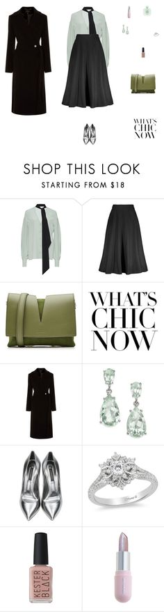 """Black, Mint and Silver"" by mariagraziatrotta ❤ liked on Polyvore featuring Giambattista Valli, Jil Sander, Karen Millen, Casadei, Disney, Kester Black, Giorgio Armani and Winky Lux"
