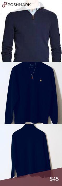 Polo by Ralph Lauren Half Zip Pullover (L) Polo by Ralph Lauren Half Zip Pullover (L) 100% Cotton Machine Wash No garment flaws Polo by Ralph Lauren Sweaters Zip Up