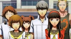 Hinode Reviews - Persona 4: The Animation. Ah the classic Atlus gradient face, an anime that shows you can do a video game justice in other media.