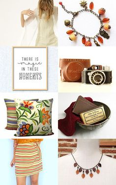 Magic moments...March Finds II by MissMayo on Etsy--Pinned with TreasuryPin.com #etsy #gifts #handmade #homedecor #vintage #brown #statementnecklace #march