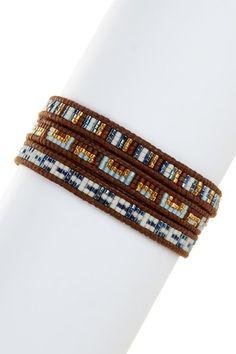Blue Mix Japanese Seed Bead Wrap Bracelet  by Chan Luu on @HauteLook
