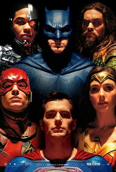 Justice League: Victor Stone/Cyborg (Ray Fisher), Bruce Wayne/Batman (Ben Affleck), Arthur Curry/Aquaman (Jason Momoa), Barry Allen/The Flash (Ezra Miller), Diana Prince/Wonder Woman (Gal Gadot) Watch Justice League, Justice League Trailer, Justice League 2017, Batman Wonder Woman, Alex Ross, Marvel Dc, Ben Affleck, 3d Kino, Batman