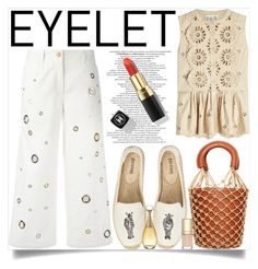 """""""The Breathable Embroidery = Eyelet"""" by lucky-ruby ❤ liked on Polyvore featuring Sea, New York, Kenzo, Soludos, SkinCare, Moreau, Christian Dior, Dolce&Gabbana and eyelet"""