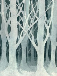 Negative Painting Workshop, Day 2—Negative Paining a Forest - WetCanvas