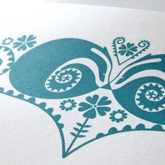 Image of Sleeping Badgers in Curly Ferns & Campion Flowers - An Original Hand Pulled Gocco Print