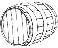 Wooden barrel illustrationWhiskey Barrel Drawing