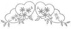 Workbasket Design Hearts and Floral Motif