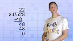 Math Antics - Long Division with Divisors - Fun Clip Videos Teaching Long Division, Math Division, Teaching Math, Teaching Ideas, Kindergarten Math, Teaching Tools, Fifth Grade Math, Fourth Grade, Sixth Grade