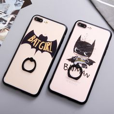 Cartoon Batman Ring Kickstand Cases For Iphone 7 Case Batglrl Holder Stand Shockproof Back Cover For Apple 7 plus case