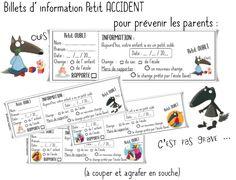 Information parents petit oubli - Validées