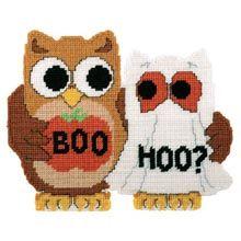 Quality Crafts Since 1899 Halloween Owl, Halloween Crafts, Plastic Canvas Crafts, Plastic Canvas Patterns, Plastic Mesh, Crochet Tools, Cross Stitch Animals, Yarn Shop, Fuse Beads