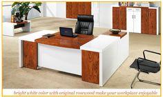 Turky white fashion design mdf modern office furniture