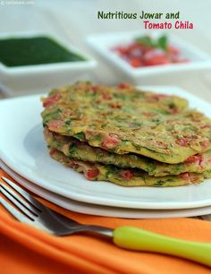Nutritious Jowar and Tomato Chila recipe