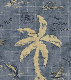 Home Decor Outdoor Fabric-Tommy Bahama Island Song Ocean, , hi-res