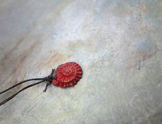 wee skye marble nuggets with ammonite ..beads by greybirdstudio