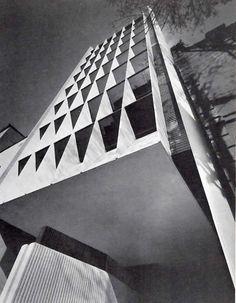 Office Buildings, Street Prague 56, Colonia Juárez, Mexico City 1965 Architect Agustin Hernandez