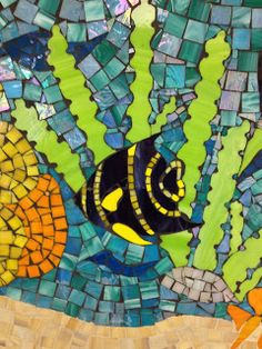 Turtle from School Community Mosaic by Wendy Erdmann at Art Lesson Launchpad