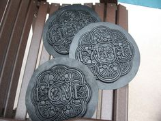 3 Garden Stepping Stone Molds for Concrete/Plaster. by MaconHill