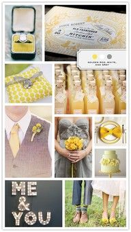 So many things on this website are gray and yellow. Reminds me of Sara and Paul's wedding.... But I really do just like the color combo!