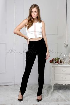 Carol in & Cecille in by Spring Summer 2015, Bodice, Capri Pants, Trousers, Ivory, Model, How To Wear, Collection, Black