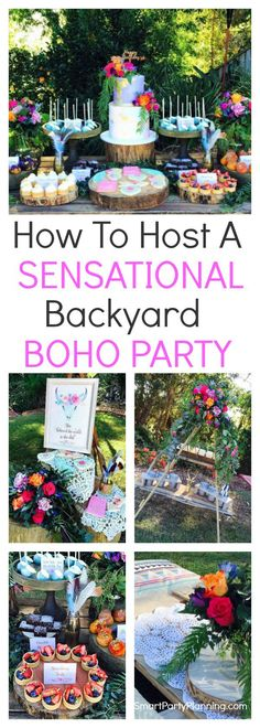For boho birthday party ideas, this party has it all. It's a party that can be easily styled in your own backyard and is perfect for both adults and kids. Create a bohemian look with the use of candles, cushions, feathers and dream catchers for a party idea that you will fall in love with. Take inspiration from these gorgeous boho decorations and themed food. It's the perfect outdoor party and is beautiful to be held on summer nights. #Bohoparty #Backyard #Bohemian #DIY #Inspiration #Fun…