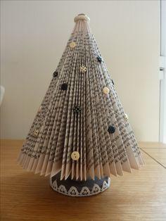 Book Folding, Book Art, Christmas Tree