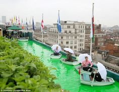 Selfridges is opening its roof gardens as part of the jubilee celebrations.  Will be open for tea and boating from the end of May 2012.