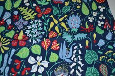 Swedish design Herbarium fabric Stig by Scandinaviavandesign