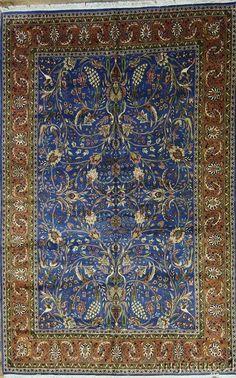 Tree Of Life Masterpiece Blue 7X11 Qum Ghom Persian Oriental Area Rug Carpet New #TraditionalPersianOriental