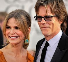"""Kevin Bacon & Kyra Sedgwick-met on the PBS American Playhouse production of """"Lemon Sky"""" in 1988 and married one year later. they have 2 children"""