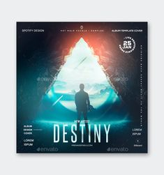 Destiny Album Cover Template PSD Sound Samples, Artist Album, Cover Template, New Artists, Apple Music, Billboard, Album Covers, Destiny, Chart