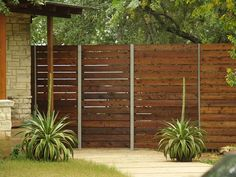 Image result for what size boards for horizontal fence modern
