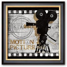"Art.com ""Motion Picture"" Black Framed Art Print by Conrad Knutsen ($55) ❤ liked on Polyvore featuring home, home decor, wall art, grey, grey wall art, wooden wall art, black home decor, handmade wall art and wood picture"
