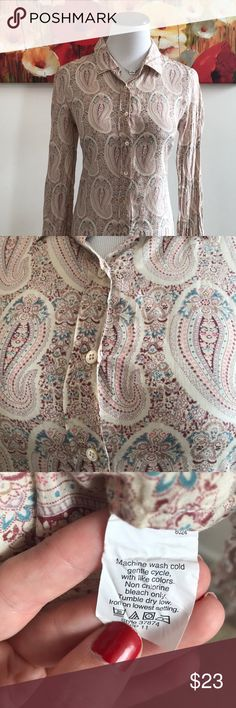 J.Crew Silk blend button up shirt Gorgeous and feminine button up shirt great for work or play! It's so soft to the touch. Great condition J. Crew Tops Button Down Shirts