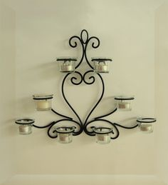 Ishatva Collections unveils its collection. We have wide range of home decor. All products are available and can be delivered across India. Please call for queries. Wall Candle Holders, Candle Stand, Candlestick Holders, Candlesticks, Iron Wall, Candle Sconces, Wall Lights, Design, Home Decor
