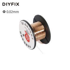 DIYFIX 0.02mm PCB Collegamento Filo di Rame Filo di Saldatura Manutenzione Linea di Salto per il Telefono Mobile Computer PCB Saldatura Strumenti di Riparazione