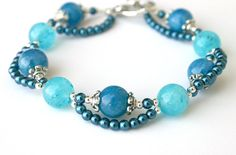 Blueberry bracelet by JewelryByLoriStave on Etsy, $18.00