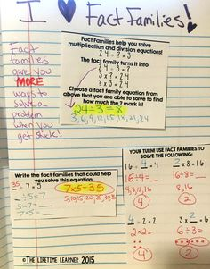 This is an interactive notebook activity where students cut out the math definitions and terms. They then glue them in their notebooks to help practice learning fact families to help with division!