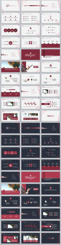 2in1+ clean charts PowerPoint Template
