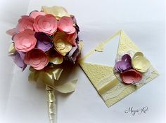 Voňavé pastelky by Bellavida - SAShE. Paper Flowers, Place Cards, Bouquet, Place Card Holders, Handmade, Hand Made, Bouquets, Craft, Floral Arrangements