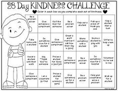 Kindness Challenge {Promoting Kindness in the Classroom} Today marks the start of Random Acts of Kindness Week and my students are not always the greatest at being kind to one another. For this reason, I've decided to start a Kindness Challenge in m Teaching Kindness, Kindness Activities, Calming Activities, Social Emotional Learning, Social Skills, Kindness Projects, Kindness Challenge, Kindness Matters, World Kindness Day