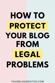 Blogging is more than just creating content and making money online. You can get into serious legal problems if you don't follow the rules & regulations. In this post, I share exactly how you can protect your blog from legal problems.  #legaltemplates #bloggingtips #wordpressblog #makemoneyblogging Make Money Blogging, Make Money Online, How To Make Money, Internet Marketing, Online Marketing, How To Protect Yourself, How To Start A Blog, Online Business