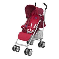 #bebes Chicco London Up – Silla de paseo con barra, color rojo